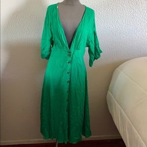 Forever 21 green midi dress